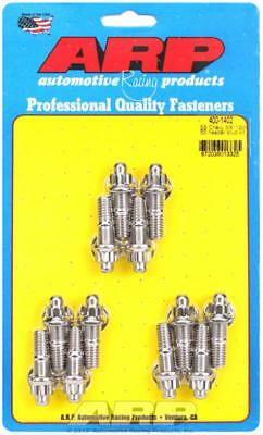 "ARP Header Studs 12-Point Nuts Stainless Polished 3/8""-16 1.670"" U.H.L. SetOf12"
