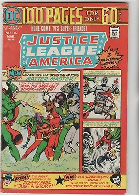 Justice League Of America # 116 1St Golden Eagle*100 Pages*1974*very Fine Minus
