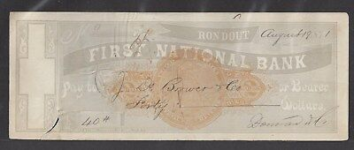 1871 Rondout New York Bank Check RN-C1