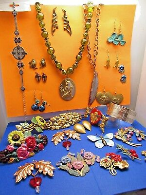 Vintage wholesale lot of Hand Crafted Jewelry lots European Art Nouveau HUGE #15