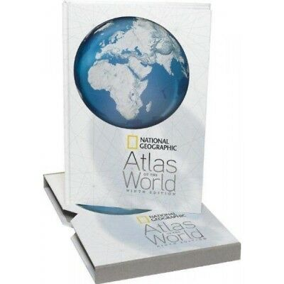 National Geographic Atlas of the World ,Ninth Edition with 2 flammable maps 2010
