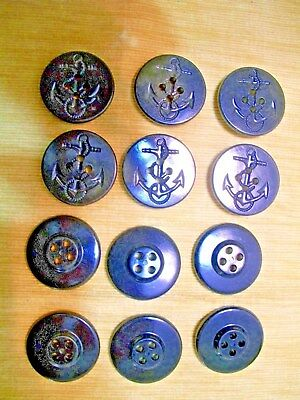 Wwii Us Navy Peacoat Buttons 12 Count