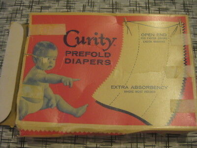 Vtg 50s Curity 2 Cotton Cloth NOS Diaapers 20 x 14 plus Liners