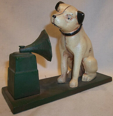 Vintage RCA Victor Nipper Mascot Dog Cast Iron Money Coin Bank