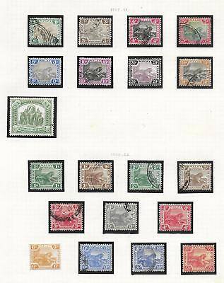 Malaya Federated States stamps 1905 Collection of 20 CLASSIC stamps HIGH VALUE!