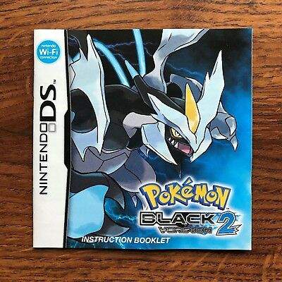 Pokemon Black Version 2 Nintendo DS Gameboy Instruction Manual Only