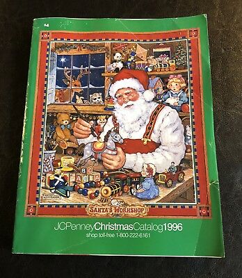 JC Penney Christmas Catalog 1996 Department Store Wish Book Santas Workshop Toys