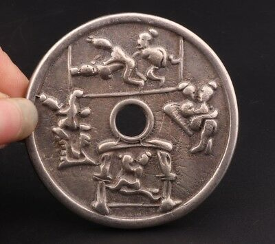 China Rare Silver-Plated Copper Hand-Carved Mandarin Duck Secret Spectrum Coins