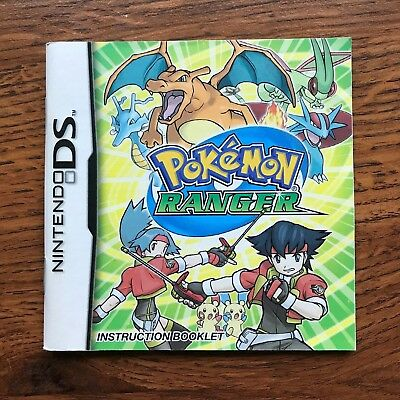 Pokemon Ranger Nintendo DS Gameboy Instruction Manual Only