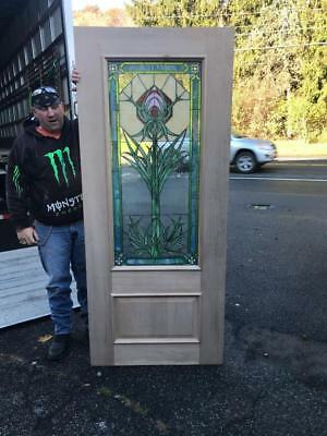 Beautiful Hand Made Stained Glass Arts And Crafts Door - Fife0417