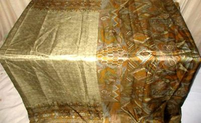 Multi-color Pure Silk 4 yard Vintage Sari Saree Design Trusted Seller Hip #9BX0F