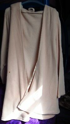 Pink ULTA Bath Robe Jacket w/Hoodie L/XL 100% Polyester Great Condition