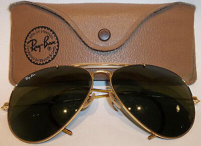 Vintage Bausch & Lomb 12K Gold Filled Ray-Ban Aviator Sunglasses & Case Nice