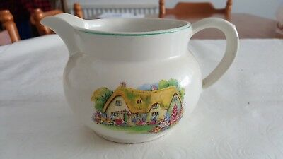 Antique Vintage Royal Vale Cottage Garden Milk Jug