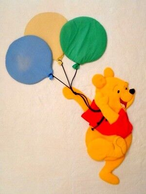 Winnie The Pooh Wall Decor Hanging Large Padded Baby Infant Nursery Balloons