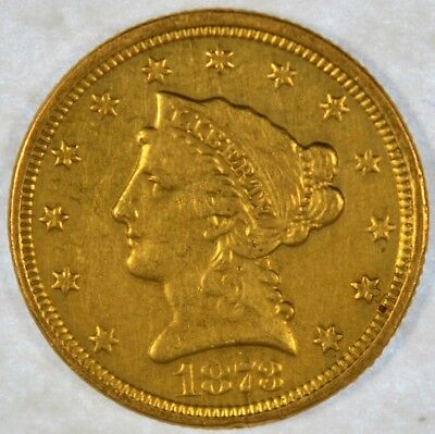 1873 $2 1/2 Liberty Head Gold Coin Quarter Eagle (b452.56)