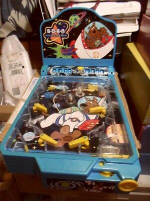Scooby-Doo Space Agency Tabletop Pinball Machine Toy Game Funrise 2004 RARE