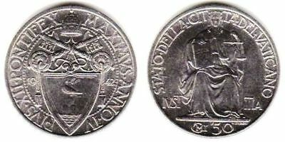 Vatican City, Pius XII Year IV, 50 Centesimi 1942, 24 mm, Stainless Steel, KM# Y