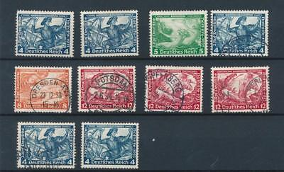 [123752] Germany 1933 good lot of stamps very fine MH / Used