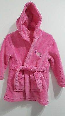 Baby girl dressing gown 12-18 months pink