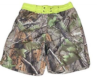 Nwt~Realtree~Real Tree Camouflage~Camo Board Shorts~Swim Trunks~Boys 6/7~New