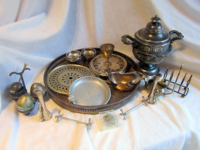 A Collection Of Antique And Vintage Silver Plated Items