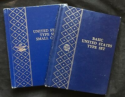 Great Lot Of 2 Vintage Whitman Type Coin Albums. Small Coins #9436 & Basic #9436