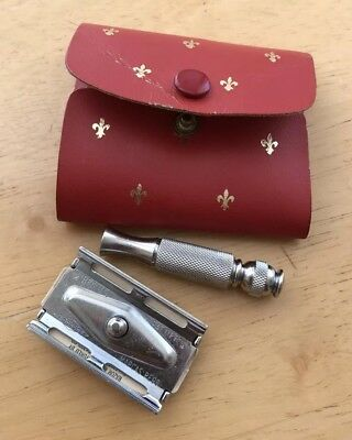 Vintage Travel Gillette Kit   Marcas Regs With Case