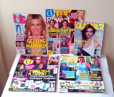 Magazines Job Lot Back Issues Gracia, Reveal, Glamour, Us.