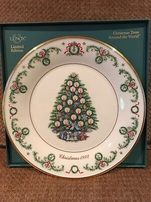 LENOX CHRISTMAS TREE AROUND THE WORLD LIMITED EDITION PLATE. 1992 France. MIB