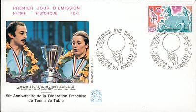 France Michel Nr.2060 FDC table tennis Tischtennis gh32
