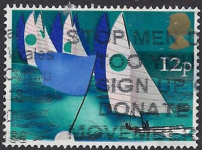 GB 1975 QE2 12p Sailing used stamp SG 983 ( M1144 )