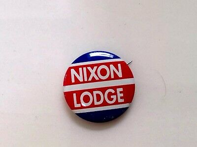 1960 VINTAGE COLLECTORS NIXON and LODGE Political Campaign Pin Back Button