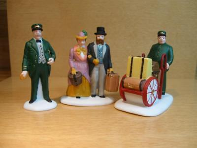 "Department 56 Heritage Village Accessories #55719 ""holiday Travelers"""