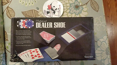 Excalibur Professional 4 Deck Dealer Shoe ... with 2 Decks ...Casino Card Games