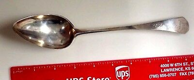 Large Coin Silver J. Mullen Serving Spoon With Coffin End
