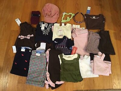 NWTS/EUC Girls lot of 15 Fall/Winter Clothes Size 3-4 Gymboree, Carter's