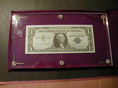 Gem Unc. $1.00  1957 - B .  Mismatched Serial Number Silver Certificate C.o.a.