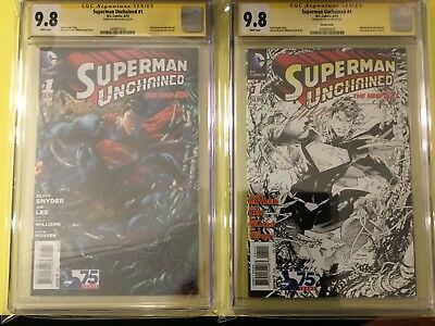 Dc Superman Unchained #1 Cgc 9.8 Set Both Signed By Jim Lee $ Great Price $