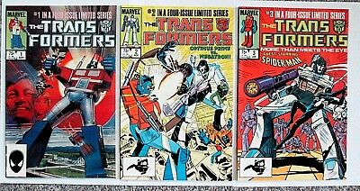 Lot of The Transformers #1-3, Marvel