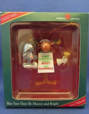 """Rocky & Bullwinkle """"May Your Days Be Moosey and Bright"""" Ornament"""
