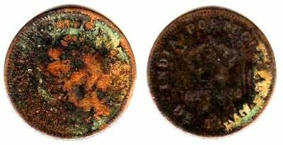 Portuguese India 1/8 Tanga 1881, Copper KM# 307