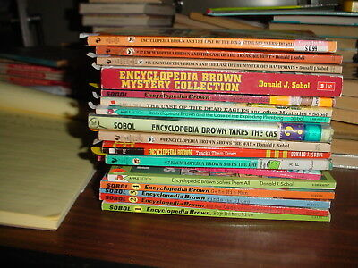 Encyclopedia Brown Books 1-18 including 15 and a Half