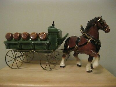 Large Old Vintage Antique Horse & Wagon from 1935 Wedding