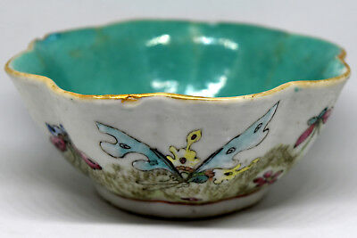 "Antique 19th Century Chinese Porcelain Low Bowl 5 1/4""X2 1/8"""