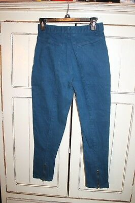 """VTG Gitano Relaxed Fit Jeans Dark Teal Green High Mom Waist Tapered 8 s 27 x 27"""""""