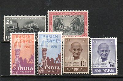 India 1948 gandhi to1951 games mint