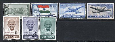 India 1947 Independence to Gandhi 12a. mint
