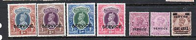 India 1937 Official 1-10 R mint