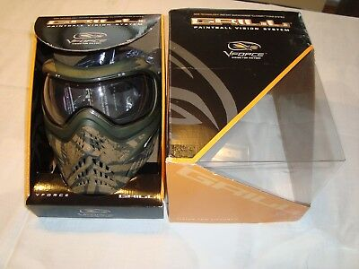 Paintball Maske Eclipse V-Force Grill Thermalglas Camo Stixx sehr Selten!